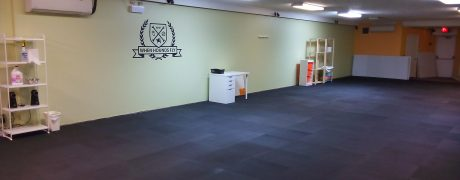 Our spacious, matted, bright and clean training hall